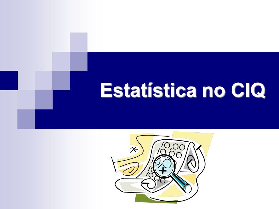 Estatística no CIQ