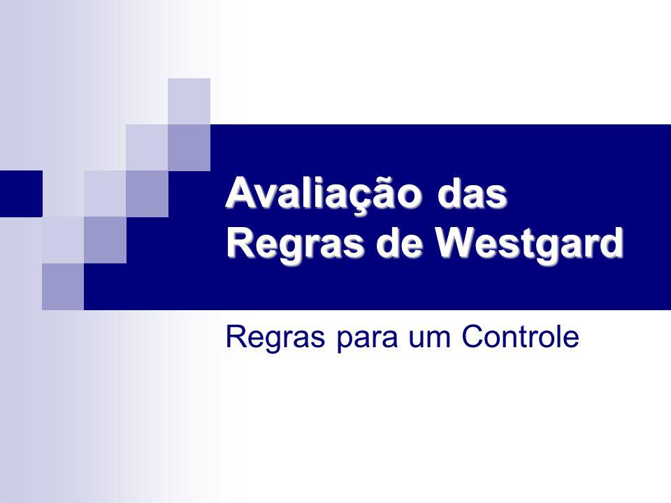 Avaliação das Regras de Westgard