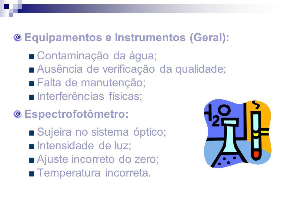 Equipamentos e Instrumentos (Geral):