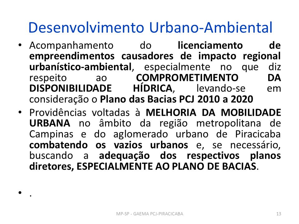 Desenvolvimento Urbano-Ambiental