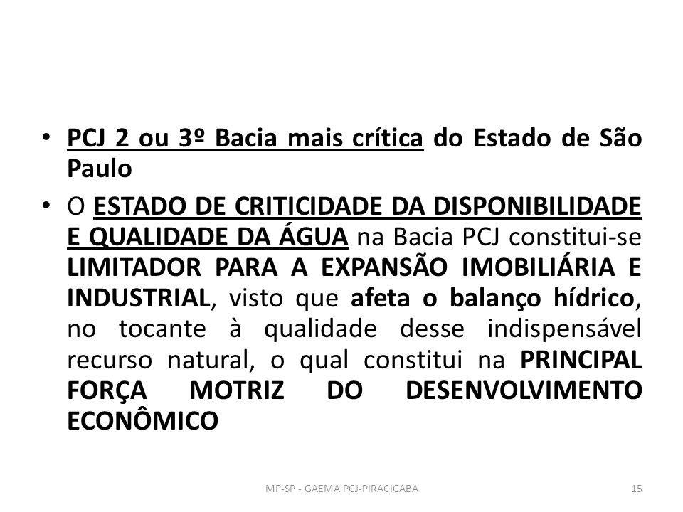 MP-SP - GAEMA PCJ-PIRACICABA