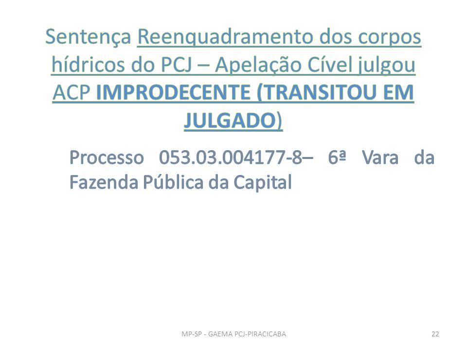 Processo 053.03.004177-8– 6ª Vara da Fazenda Pública da Capital