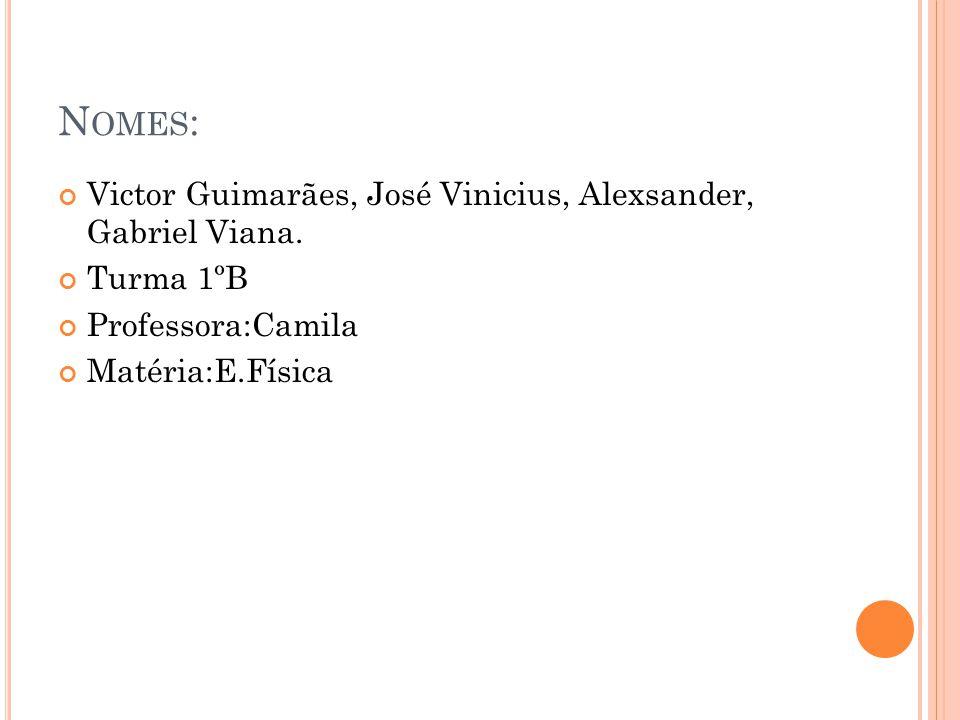 Nomes: Victor Guimarães, José Vinicius, Alexsander, Gabriel Viana.