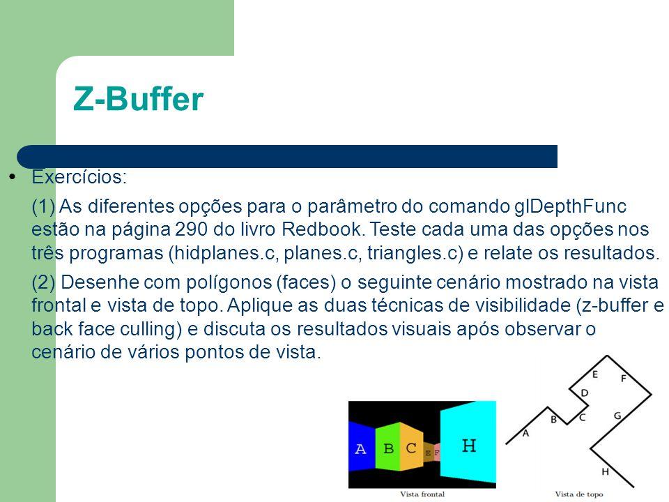 Z-Buffer Exercícios: