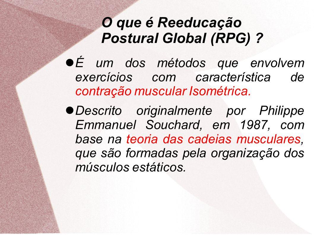 O que é Reeducação Postural Global (RPG)
