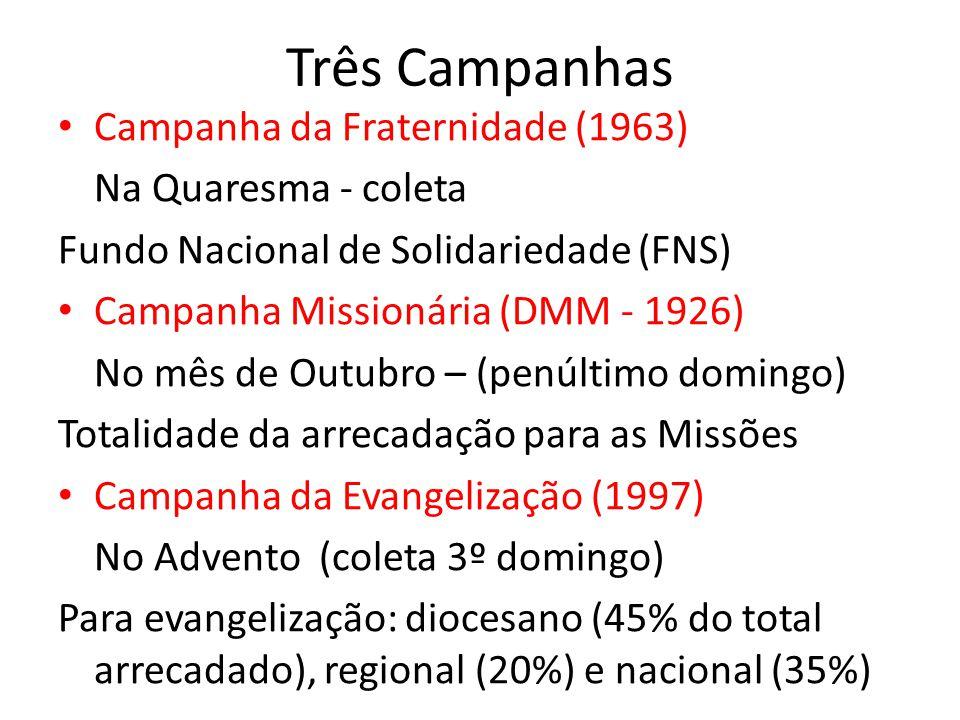 Três Campanhas Campanha da Fraternidade (1963) Na Quaresma - coleta