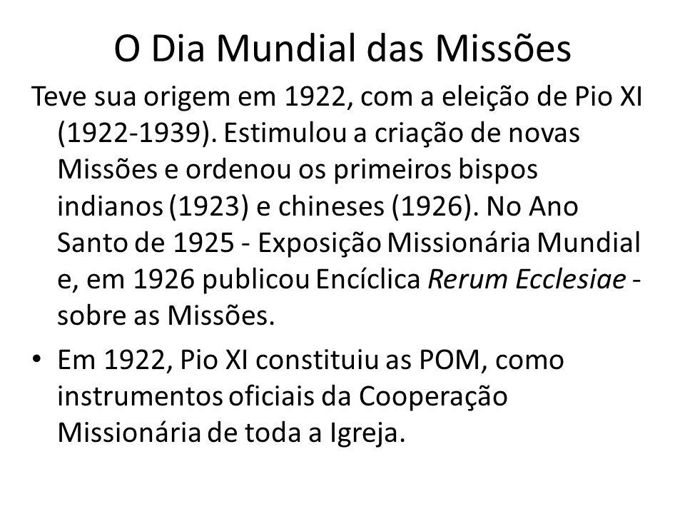 O Dia Mundial das Missões