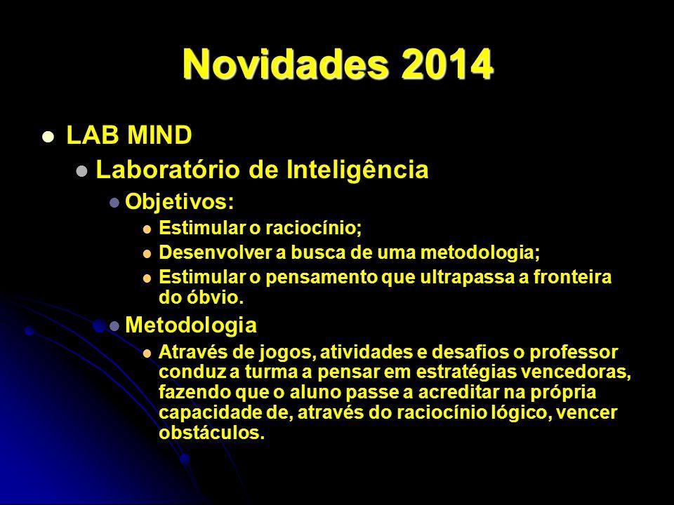 Novidades 2014 LAB MIND Laboratório de Inteligência Objetivos: