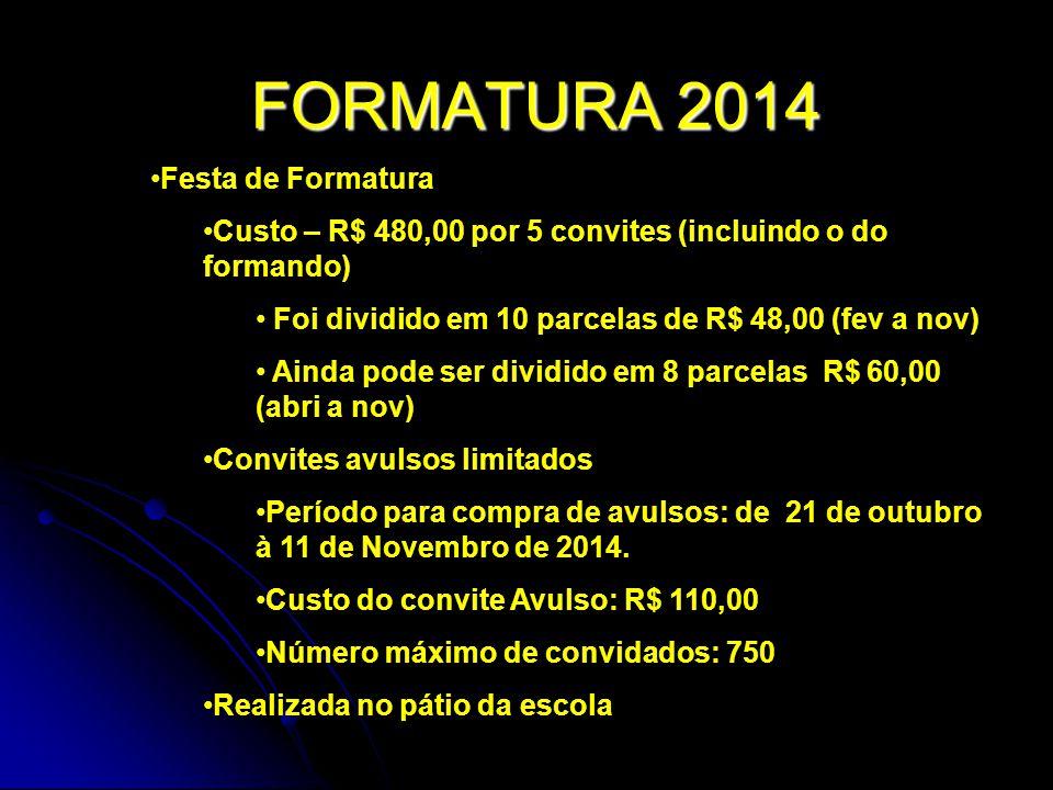 FORMATURA 2014 Festa de Formatura