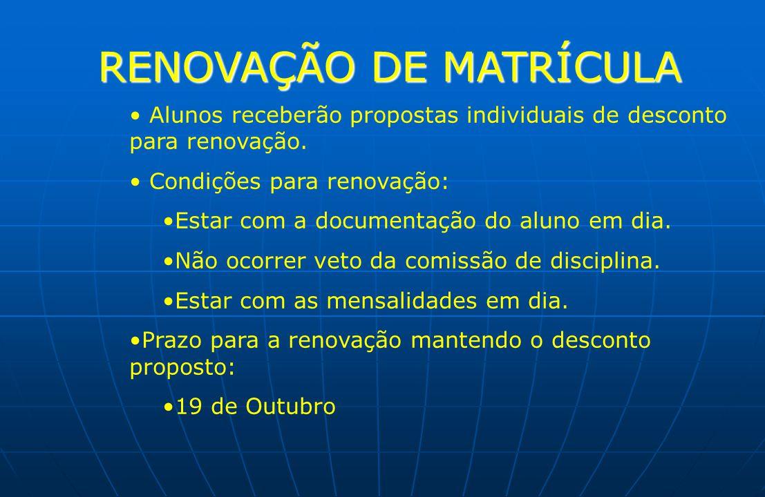 RENOVAÇÃO DE MATRÍCULA
