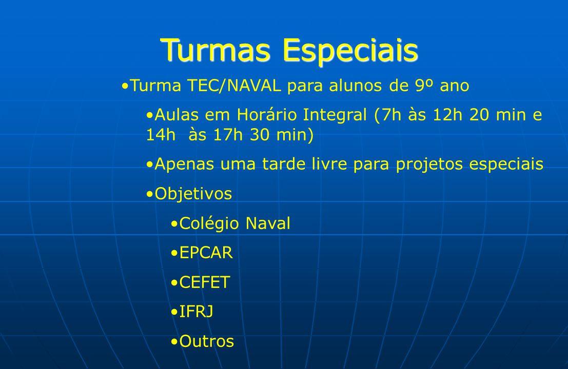 Turmas Especiais Turma TEC/NAVAL para alunos de 9º ano