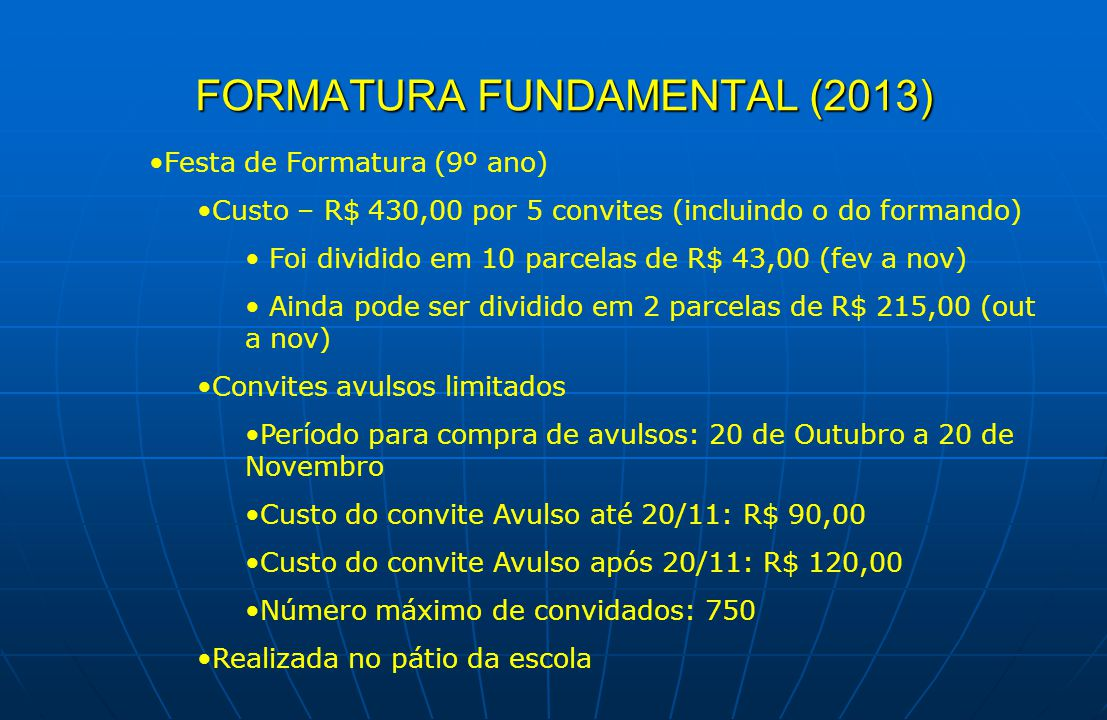 FORMATURA FUNDAMENTAL (2013)