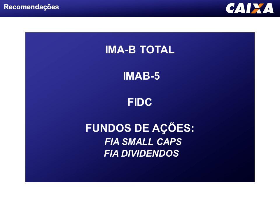 IMA-B TOTAL IMAB-5 FIDC FUNDOS DE AÇÕES: FIA SMALL CAPS