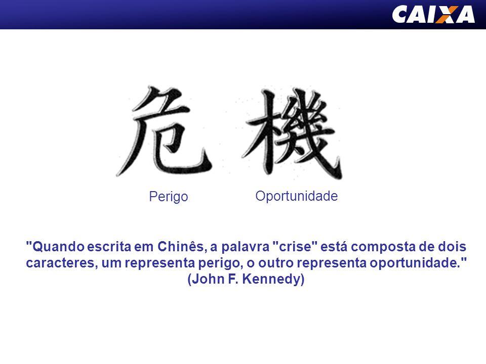 Quando escrita em Chinês, a palavra crise está composta de dois