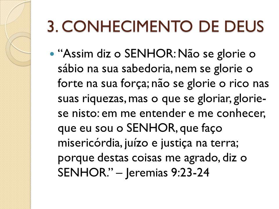 3. CONHECIMENTO DE DEUS