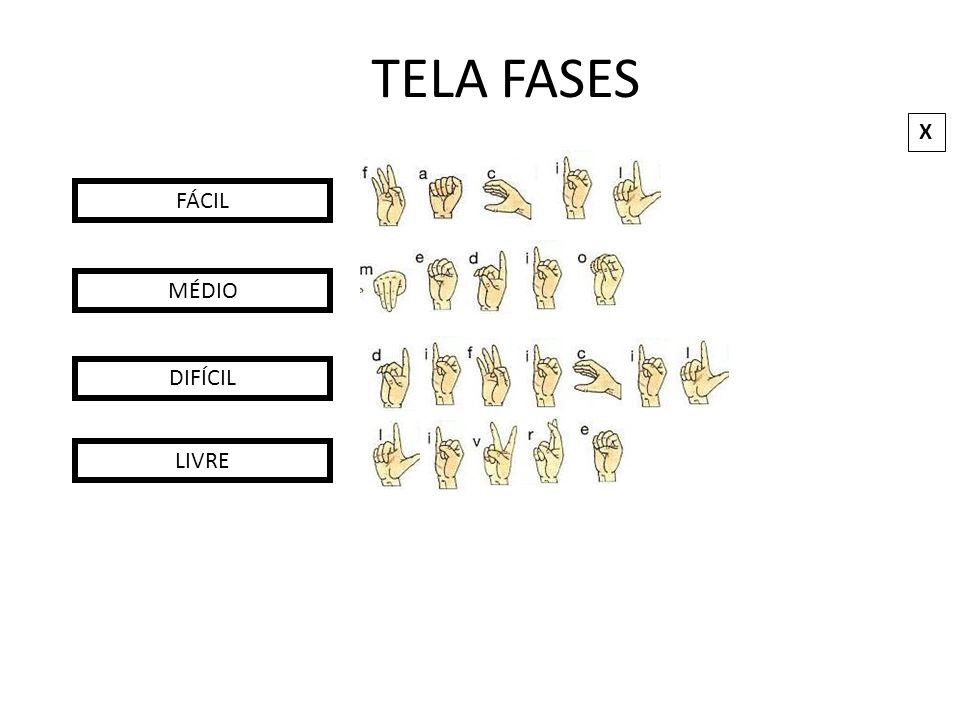 TELA FASES X FÁCIL MÉDIO DIFÍCIL LIVRE