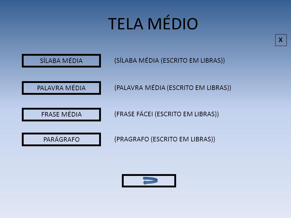 TELA MÉDIO X SÍLABA MÉDIA (SÍLABA MÉDIA (ESCRITO EM LIBRAS))