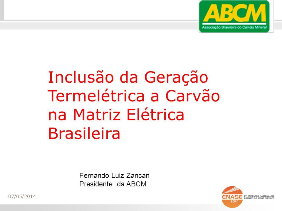 Inclusão da Geração Termelétrica a Carvão na Matriz Elétrica Brasileira
