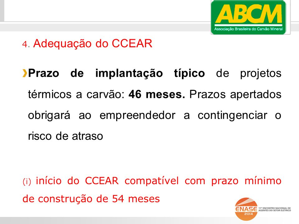 4. Adequação do CCEAR