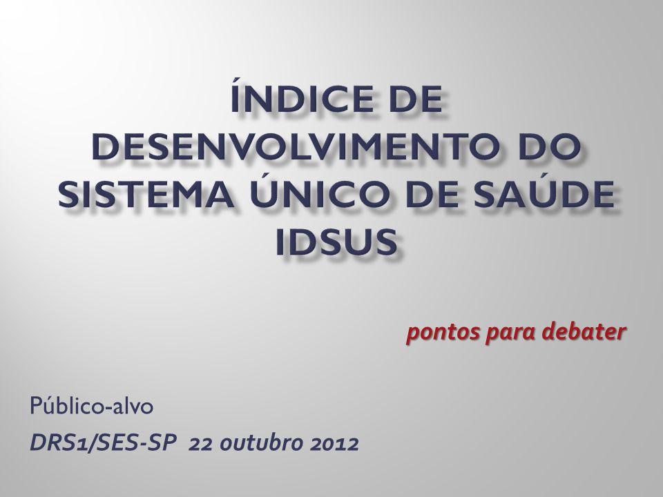 Índice de Desenvolvimento do Sistema Único de Saúde IDSUS