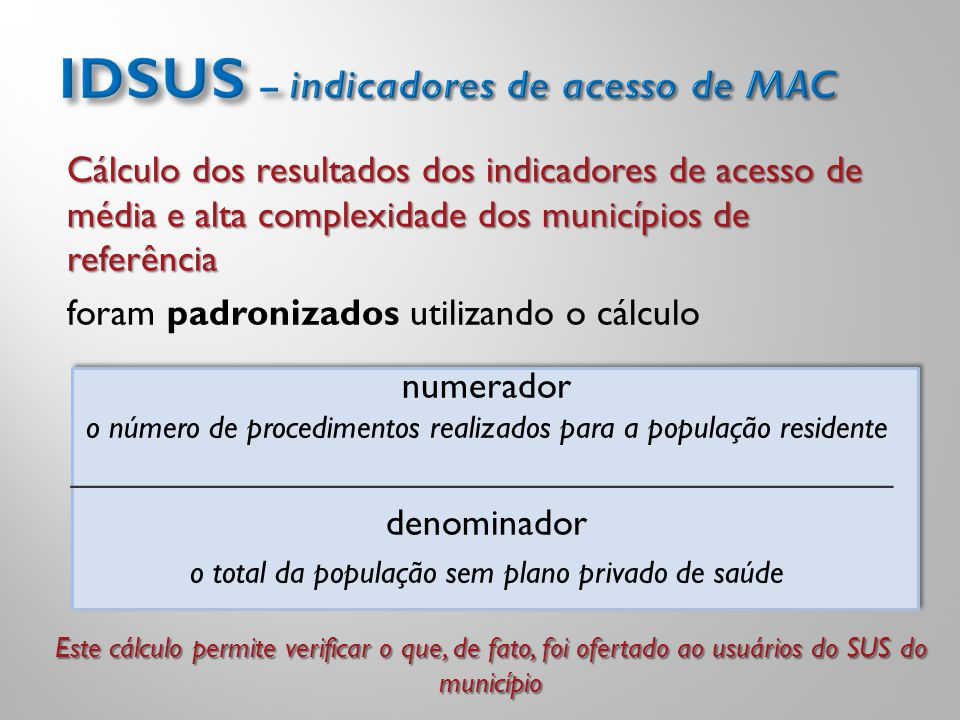 IDSUS – indicadores de acesso de MAC