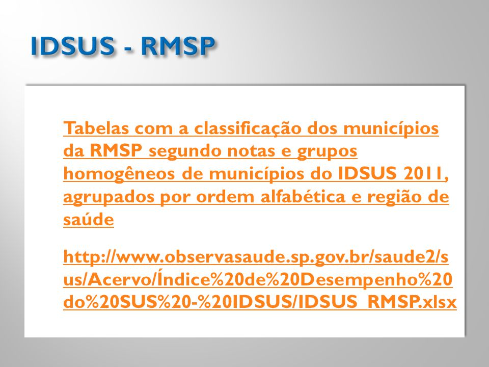 IDSUS - RMSP