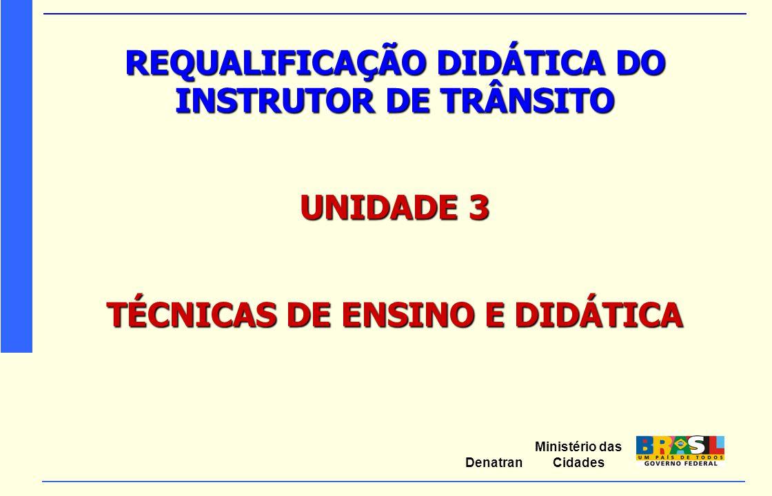 REQUALIFICAÇÃO DIDÁTICA DO INSTRUTOR DE TRÂNSITO