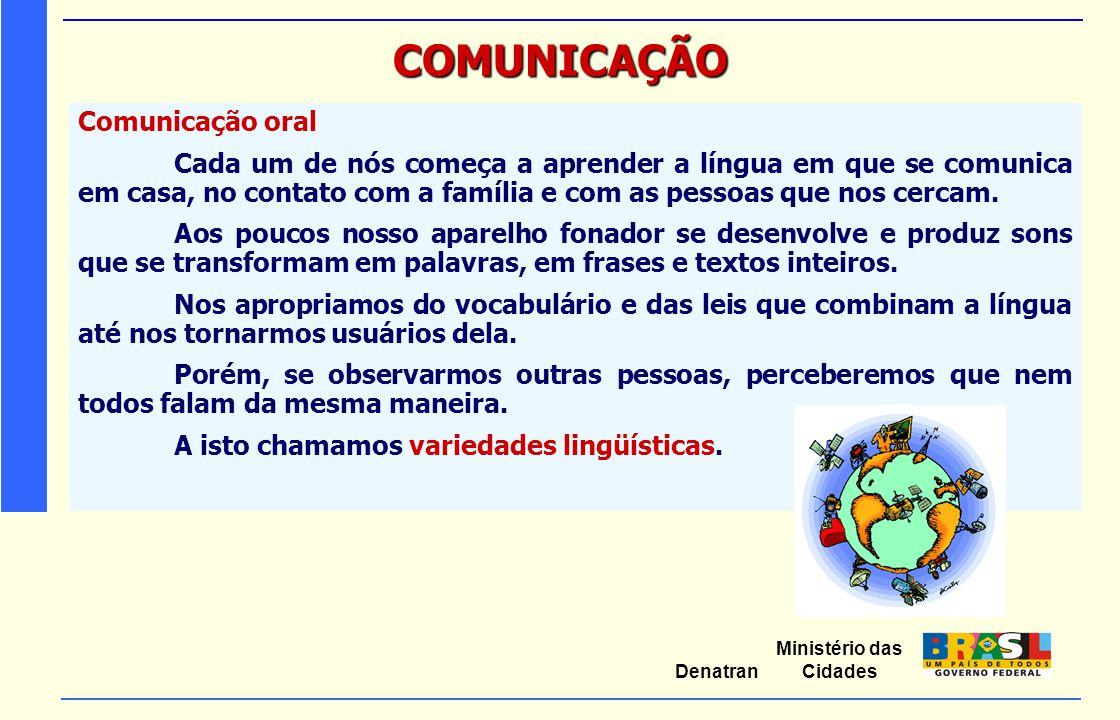 COMUNICAÇÃO Comunicação oral