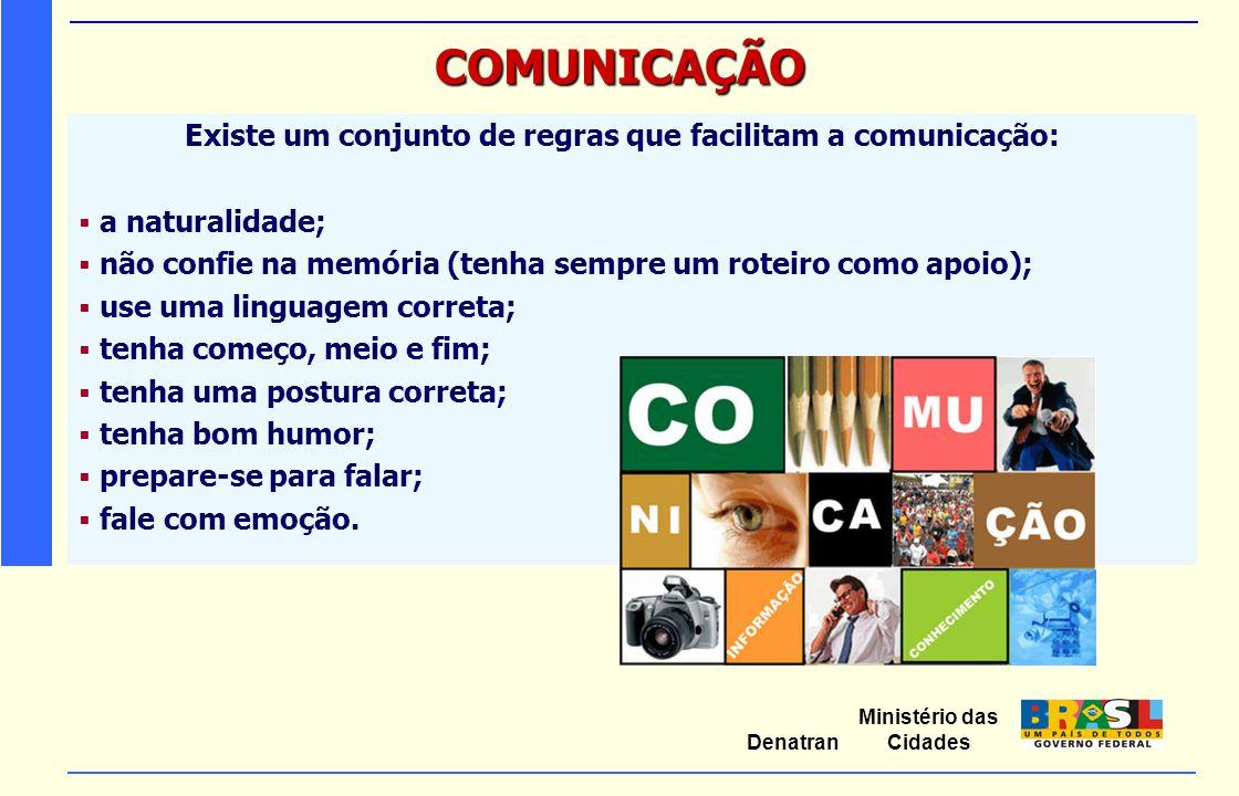 COMUNICAÇÃO Existe um conjunto de regras que facilitam a comunicação: