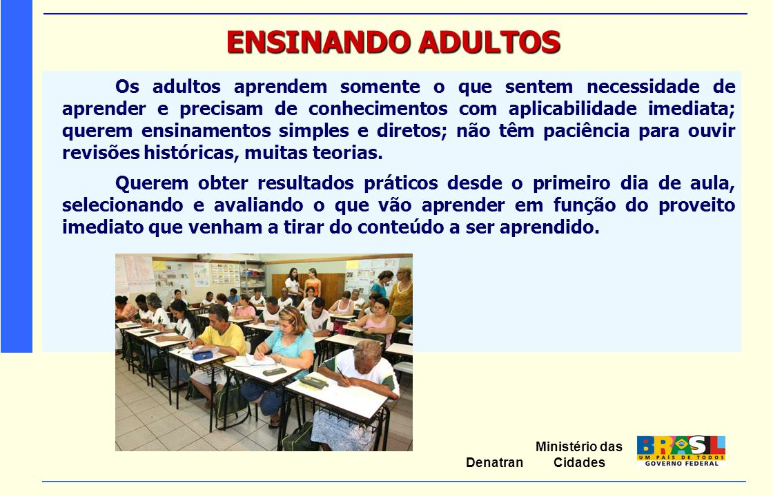 ENSINANDO ADULTOS