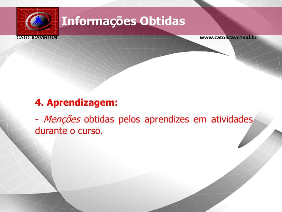 Informações Obtidas 4. Aprendizagem: