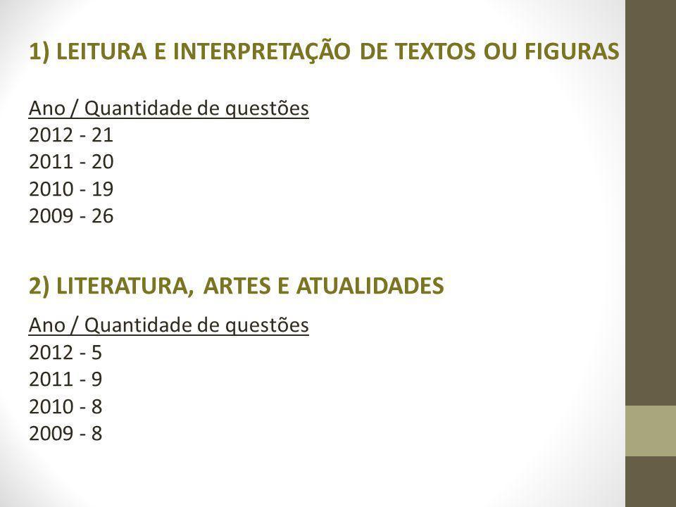 1) LEITURA E INTERPRETAÇÃO DE TEXTOS OU FIGURAS