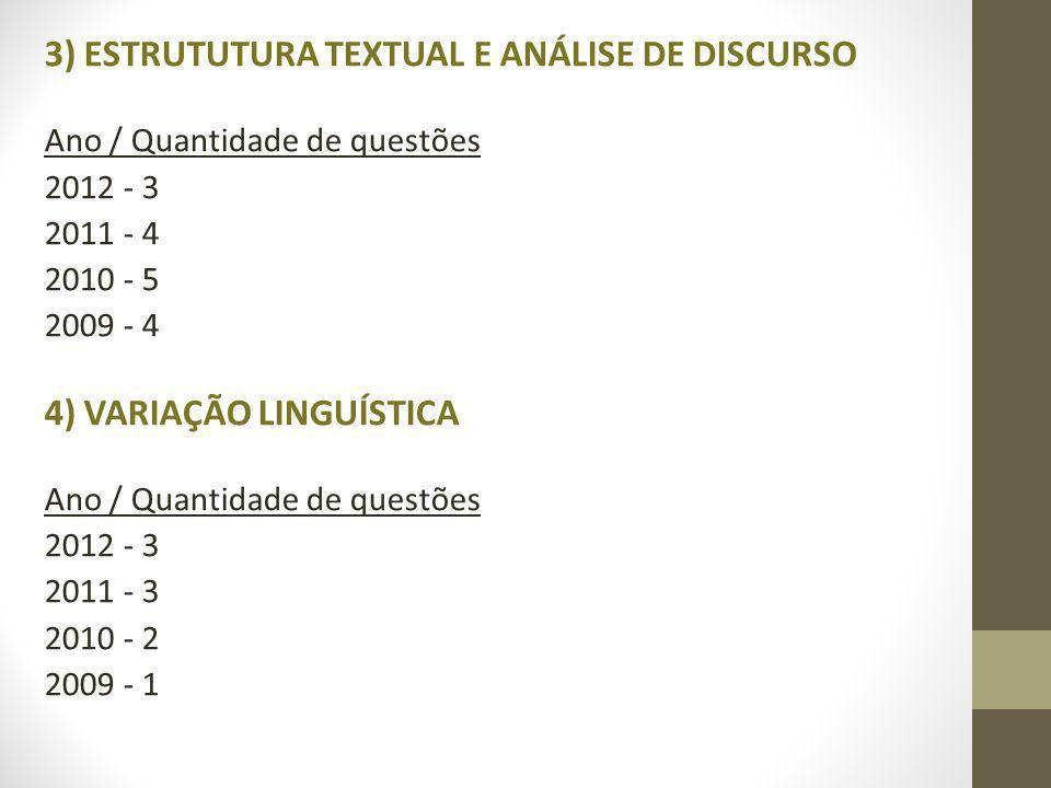 3) ESTRUTUTURA TEXTUAL E ANÁLISE DE DISCURSO