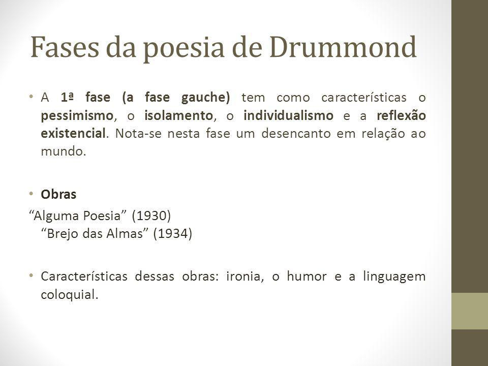 Fases da poesia de Drummond
