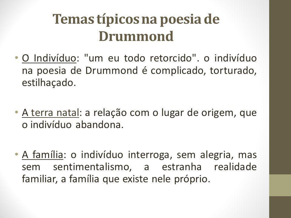Temas típicos na poesia de Drummond