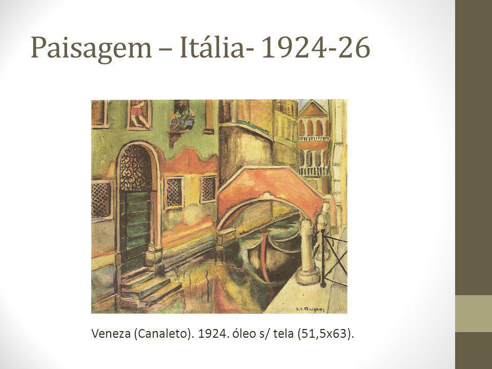 Paisagem – Itália- 1924-26 Veneza (Canaleto). 1924. óleo s/ tela (51,5x63).