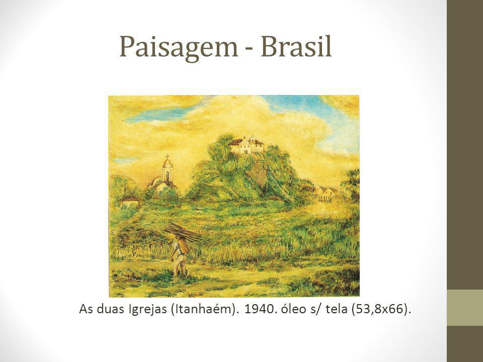 Paisagem - Brasil As duas Igrejas (Itanhaém). 1940. óleo s/ tela (53,8x66).