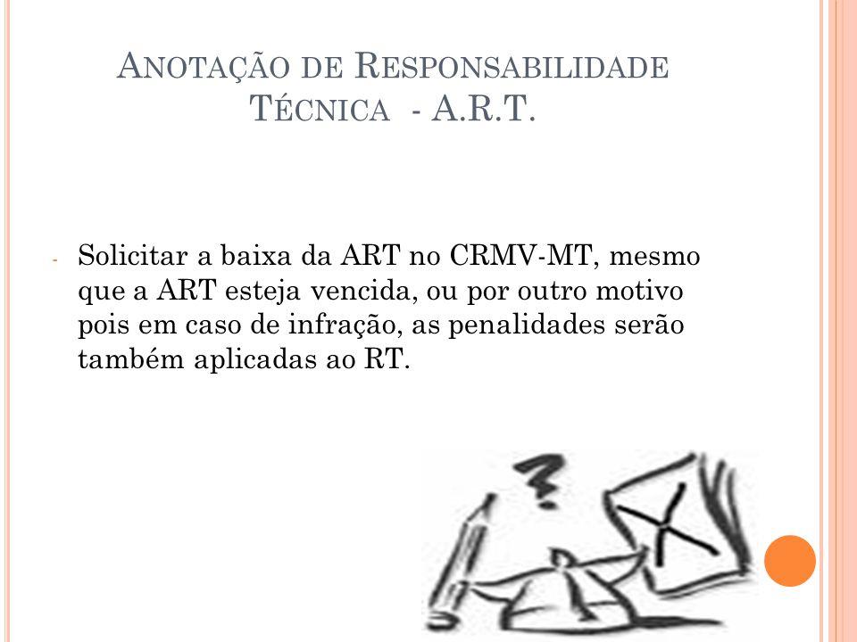 Anotação de Responsabilidade Técnica - A.R.T.
