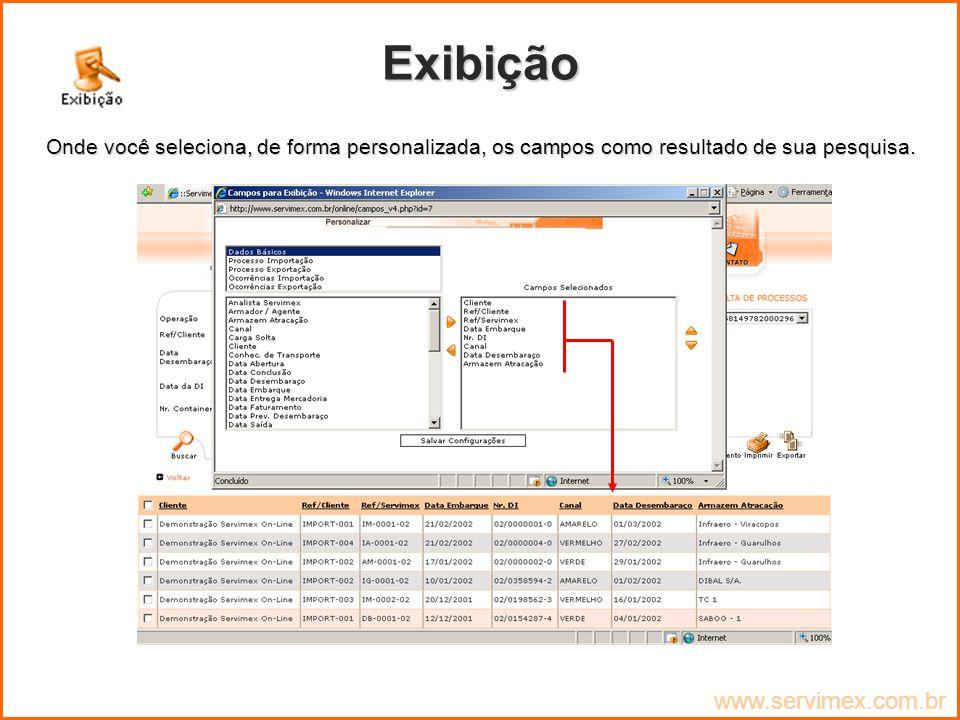 Exibição www.servimex.com.br