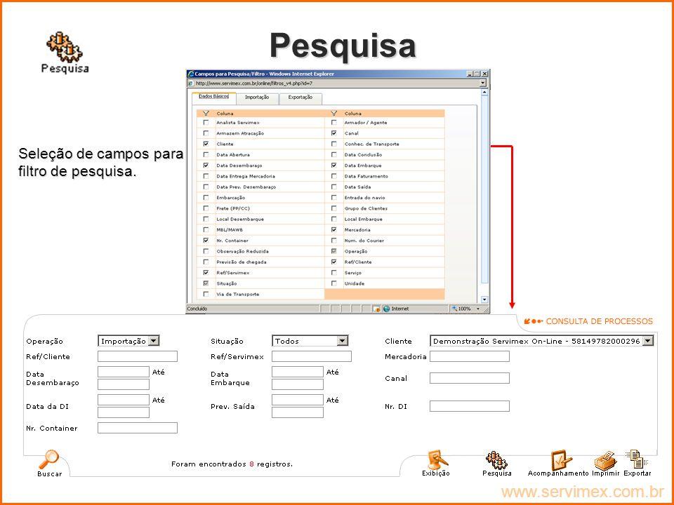 Pesquisa www.servimex.com.br