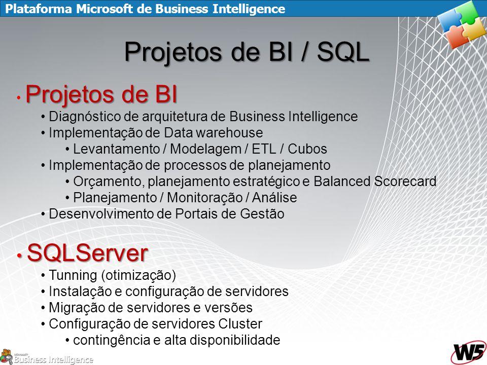 Projetos de BI / SQL SQLServer Projetos de BI