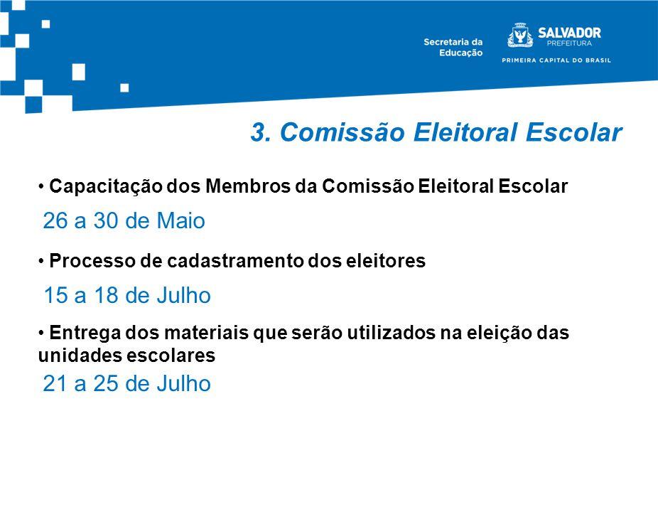 3. Comissão Eleitoral Escolar