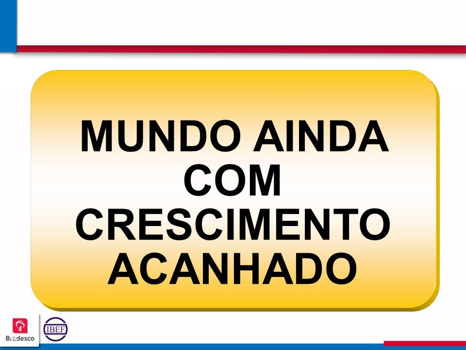 MUNDO AINDA COM CRESCIMENTO ACANHADO