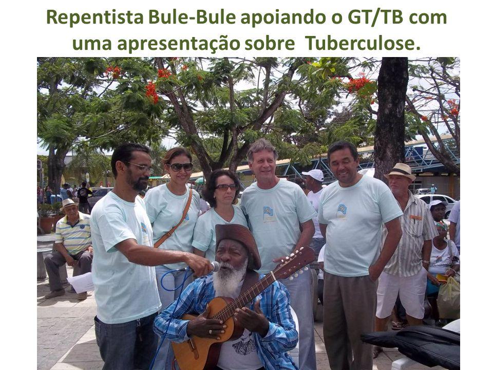 Repentista Bule-Bule apoiando o GT/TB com uma apresentação sobre Tuberculose.