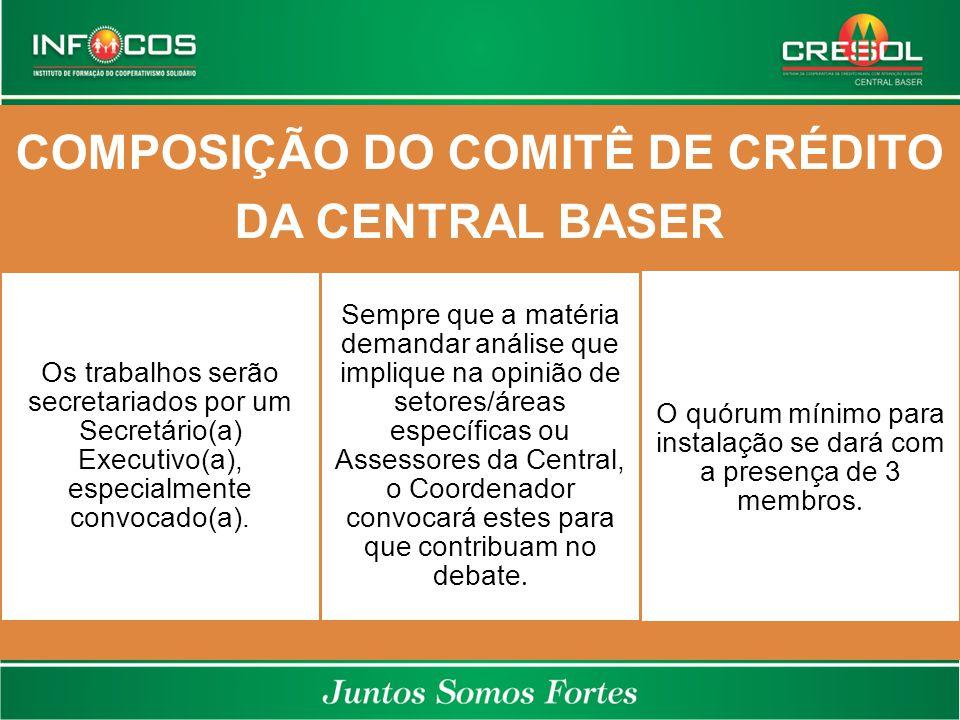 COMPOSIÇÃO DO COMITÊ DE CRÉDITO DA CENTRAL BASER