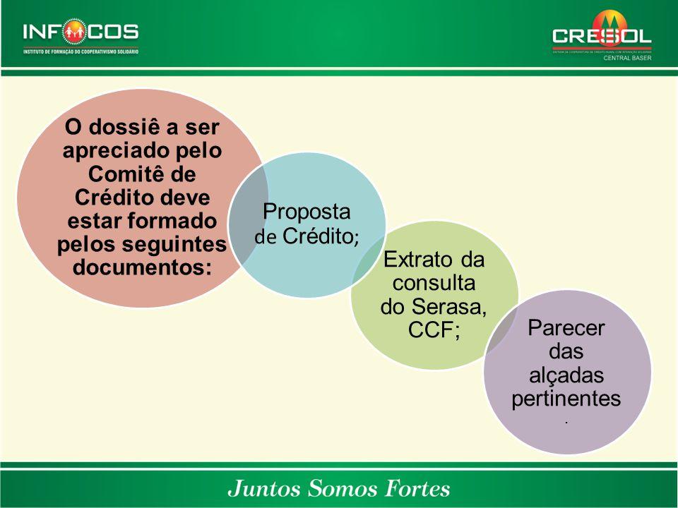 Extrato da consulta do Serasa, CCF;