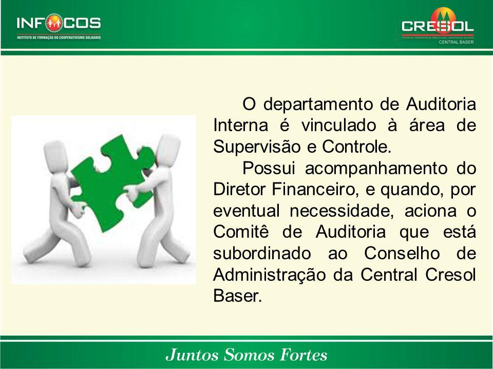 O departamento de Auditoria Interna é vinculado à área de Supervisão e Controle.