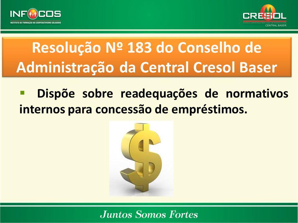 Resolução Nº 183 do Conselho de Administração da Central Cresol Baser