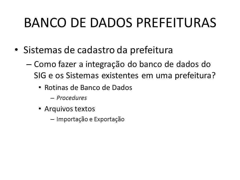 BANCO DE DADOS PREFEITURAS