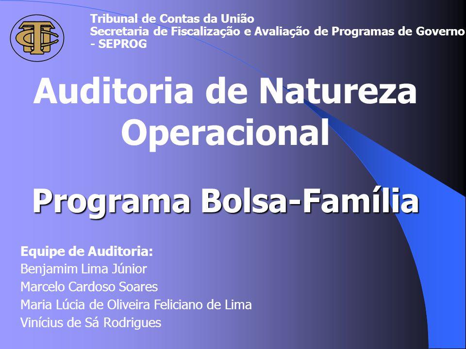 Auditoria de Natureza Operacional Programa Bolsa-Família